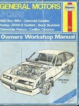 General motors J-Cars owners workshop manual (Haynes owners workshop man... - $9.97