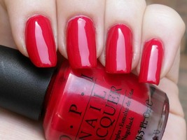 Opi Classic ~Opi Red~ Nail Polish Lacquer The Perfect Red Pearl .5oz L72 New!!!! - $8.44