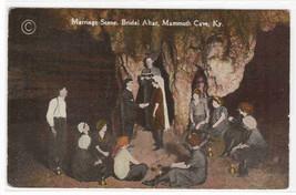 Marriage Scene Bridal Altar Mammoth Cave Kentucky 1910c postcard - $5.94