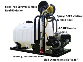 60 Gallon Skid Sprayer Tree and Fire with Hose Reel - $2,593.82