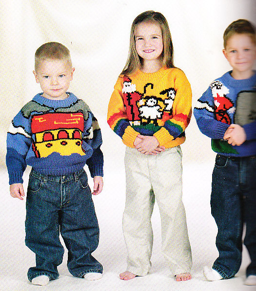 *Knit 32 Lacy and Animal Sweaters Outfits for Babies and Kids