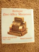 Antique Zinc-Alloy Miniature cash register no.1141  made in hong kong sh... - $20.79
