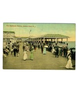 The Esplanade Review Postcard Asbury Park New Jersey 1910's - $11.88