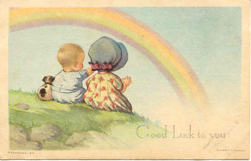 Over The Rainbow, Artist Twelvetree Post Card