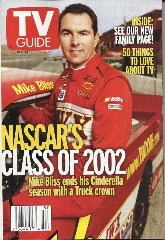 TV GUIDE SPECIAL EDITION - NASCAR'S CLASS OF 2002 - 4 DIFFERENT DRIVER COVERS