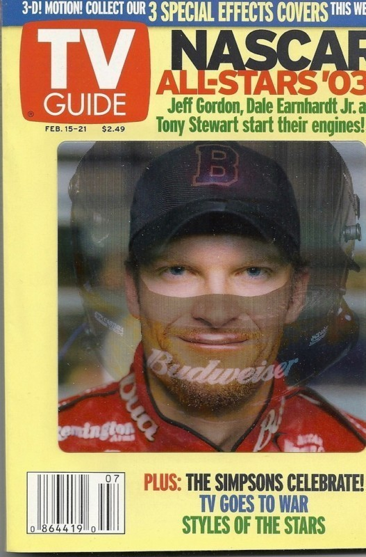 TV GUIDE SPECIAL EDITION - NASCAR ALLSTARS '03 - 3 DIFFERENT DRIVER COVERS