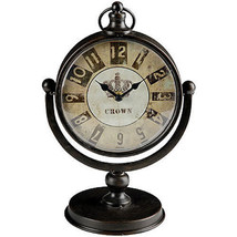 "Antiqued Table Mantle Desk Clock 7.5""x5""x11.5"" - 31571 - $39.59"
