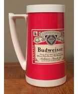 Budweiser Beer Mug Thermo Serv Plastic Insulated West Bend Made in USA R... - $8.25
