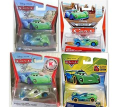 DISNEY CARS 1/55 SCALE CARLA VELOSO SET OF 4 DIFFERENT VERSIONS - $39.99