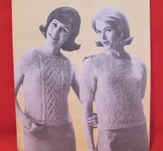 Vintage Molana Blouses Knitting Patterns LADYS Sweaters 12 - 18 Retro - $6.95