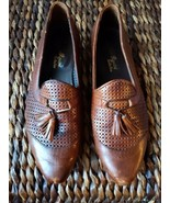 Aldo Rossini Brown Italian Leather Shoes With Tassels - $17.82