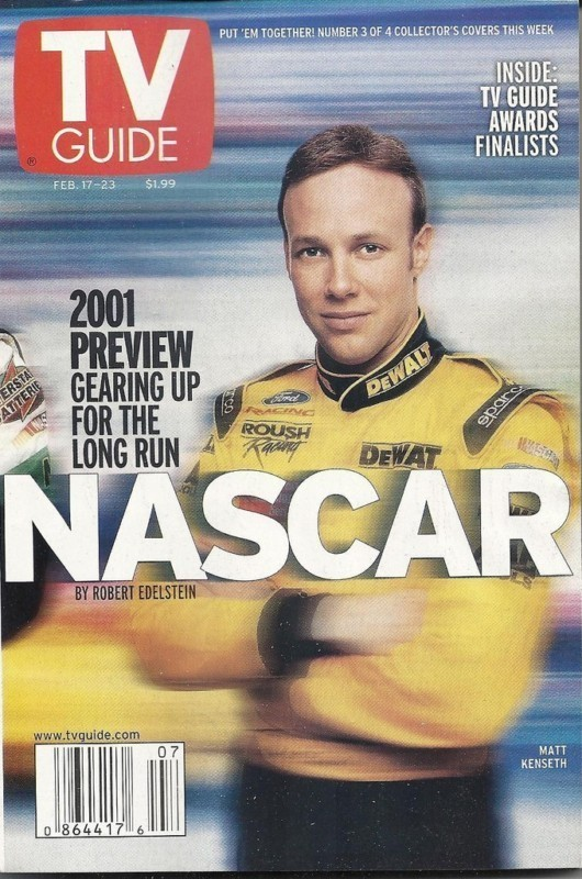 TV GUIDE SPECIAL NASCAR EDITION - 2001 SEASON PREVIEW - MATT KENSETH COVER