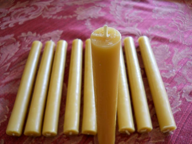 "24 Organic Beeswax Candles 7"" x 3/4"""