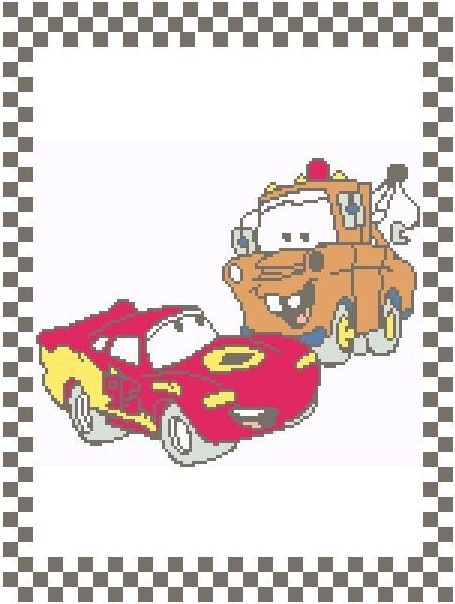 Lightning and Mater Crochet Graph Afghan Pattern