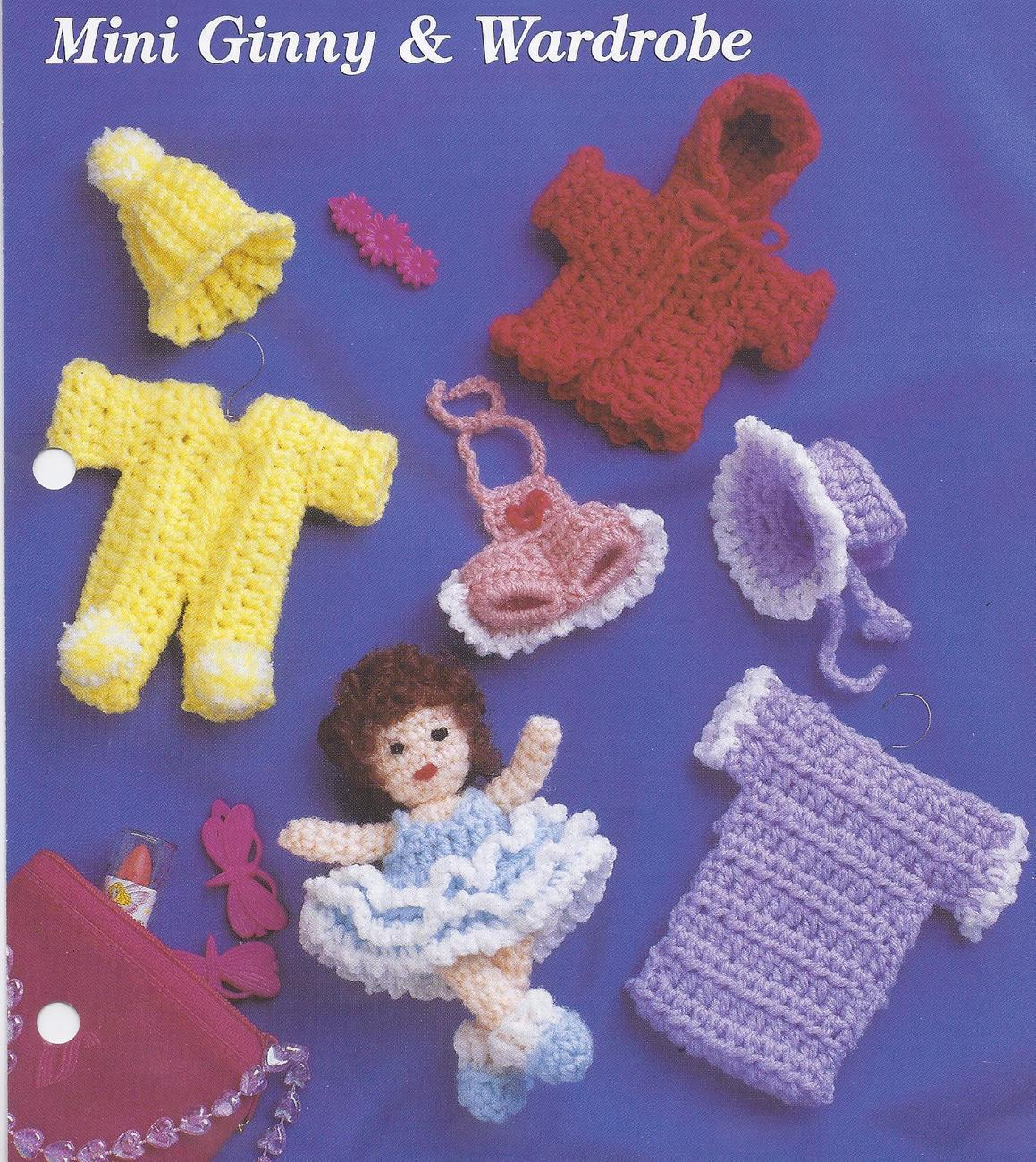 Mini Ginny & Wardrobe~Doll & Clothing Crochet Pattern