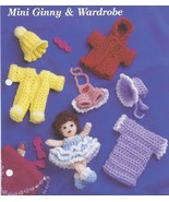 Mini Ginny & Wardrobe~Doll & Clothing Crochet P... - £9.27 GBP
