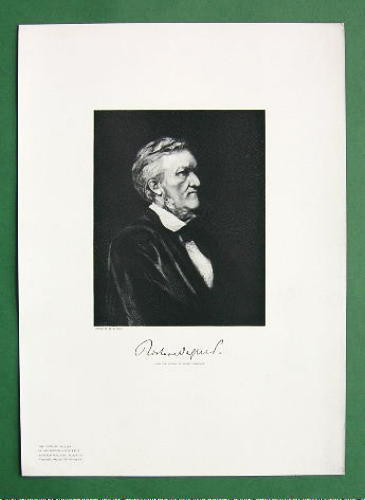 RICHARD WAGNER Music Composer - 1883 Portrait Antique Print image 2