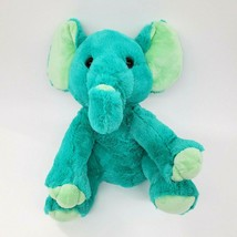 "14"" Impact Plush Elephant Teal Green Sitting Soft Plush Stuffed Animal T... - $24.97"