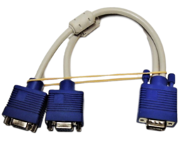 VGA Splitter Cable (VGA-Y) for Screen Duplication, 1 Foot image 3