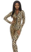 Forplay Leopard Zipfront Overall Catsuit Adult Damen Halloween Kostüm 11... - $52.51