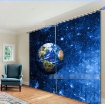 3D Star Earth31 Blockout Photo Curtain Printing Curtains Drapes Fabric W... - $145.49+
