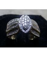 10k Gold 101 Diamond Engagement Ring Sz 6.75 Women Matching Bridal Band ... - $599.99
