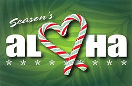 Candy Cane Aloha Heart Hawaiian Holiday Cards 10 Pack - $13.11