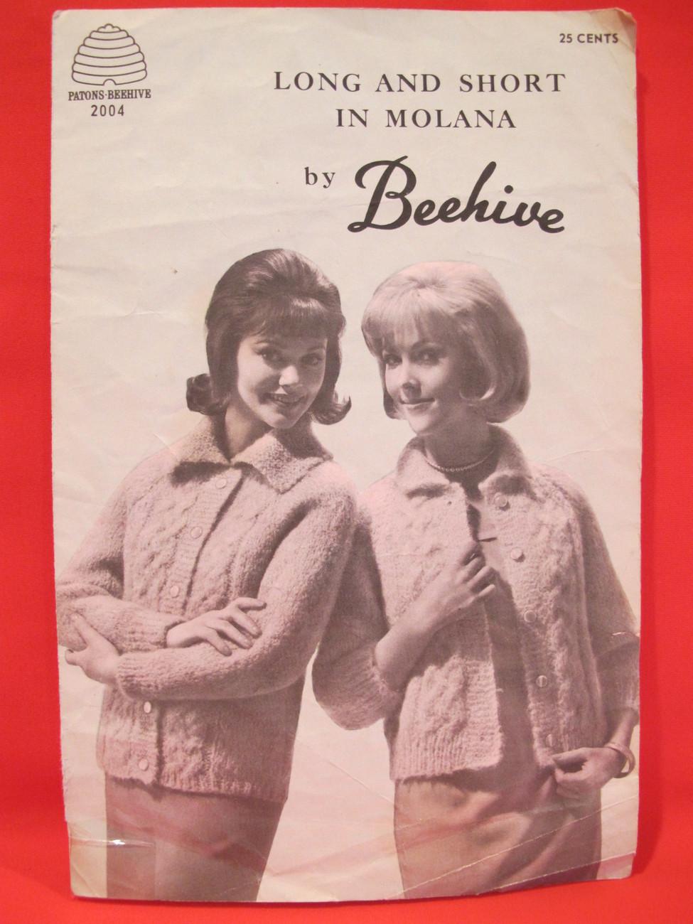 Vintage Molana Knitting Patterns LADYS Cardigan Sweaters 12 - 18 Retro