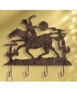 Wall Hooks Western Cowboy and Horse Hat Key Rack - $13.80