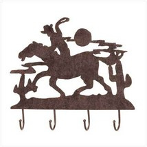 Wall Hooks Western Cowboy and Horse Hat Key Rack - $13.80