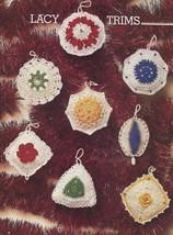 Vintage~Lacy Tree Trims/Ornaments Crochet Pattern~8 Designs - $4.99
