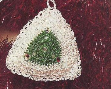 Vintage~Lacy Tree Trims/Ornaments Crochet Pattern~8 Designs