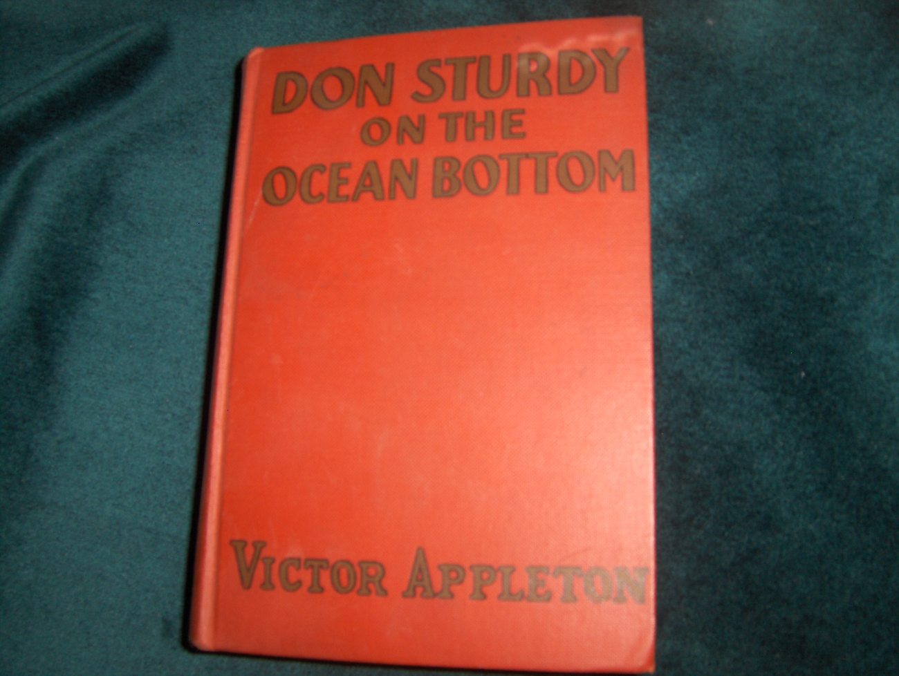 Don Sturdy Hardcover 1931 on the Ocean Bottom