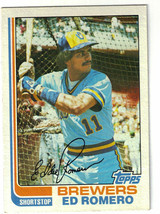 1982 Topps Ed Romero Milwaukee Brewers #408 Baseball Card - $1.97
