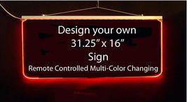 "Personalized LED Sign-Design your own Sign,  Multi-Color Changing 31.25"" x 16"" image 4"
