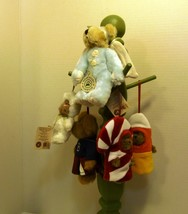 Boyds Bears Lot of Five (5) Ornaments Blue Angel Lil CC Cheerleader Baby Baakins - $17.98