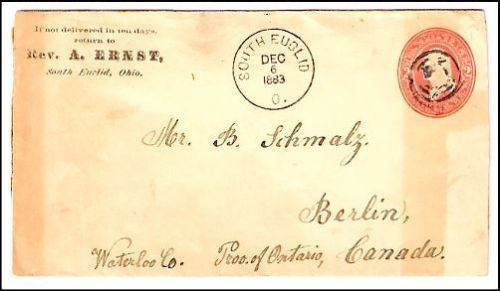1883 South Euclid OH Defunct Post Office (DPO) Cover ...