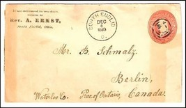 1883 South Euclid OH Defunct Post Office (DPO) Cover  - $9.95