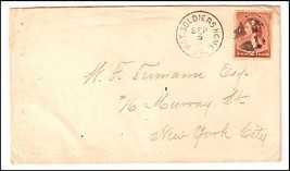 1887 National Soldiers Home VA DPO Cover  - $9.95