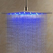 12 Inch Stainless Steel Shower Head with Color Changing LED Light - $217.75