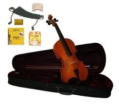 1/4 Size Natural Violin,Case,Bow,2Sets String,Rosin,2Bridges,Tuner,Shoulder Rest - $45.00