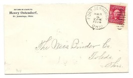 1904 Fort Jennings OH Vintage Postal Cover  - $9.95