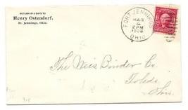 1904 Fort Jennings OH Vintage Postal Cover  - $9.95