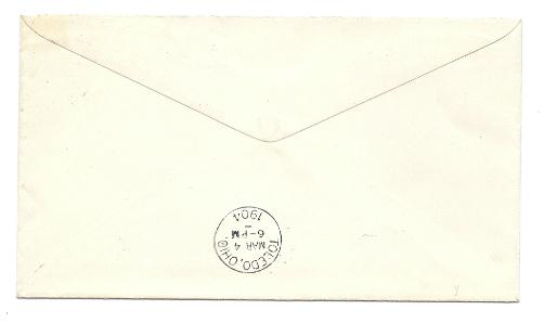 1904 Fort Jennings OH Vintage Postal Cover