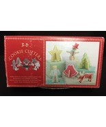 Box of 3-D Cookie Cutters By Nordic Ware Star, Angel,Tree,Bell & Reindeer - $11.11