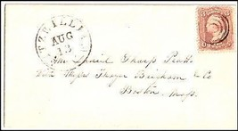 c1861 Fitzwilliam NH Vintage Postal Cover  - $9.95