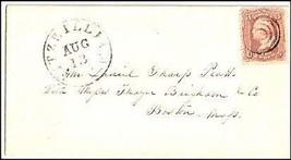 c1861 Fitzwilliam NH Vintage Postal Cover  - $9.95