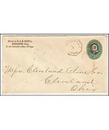 c1880 Higganum CT Vintage Postal Cover  - ₹690.46 INR