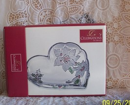 Mikasa Holiday Bloom Collection Heart Dish  - $18.00