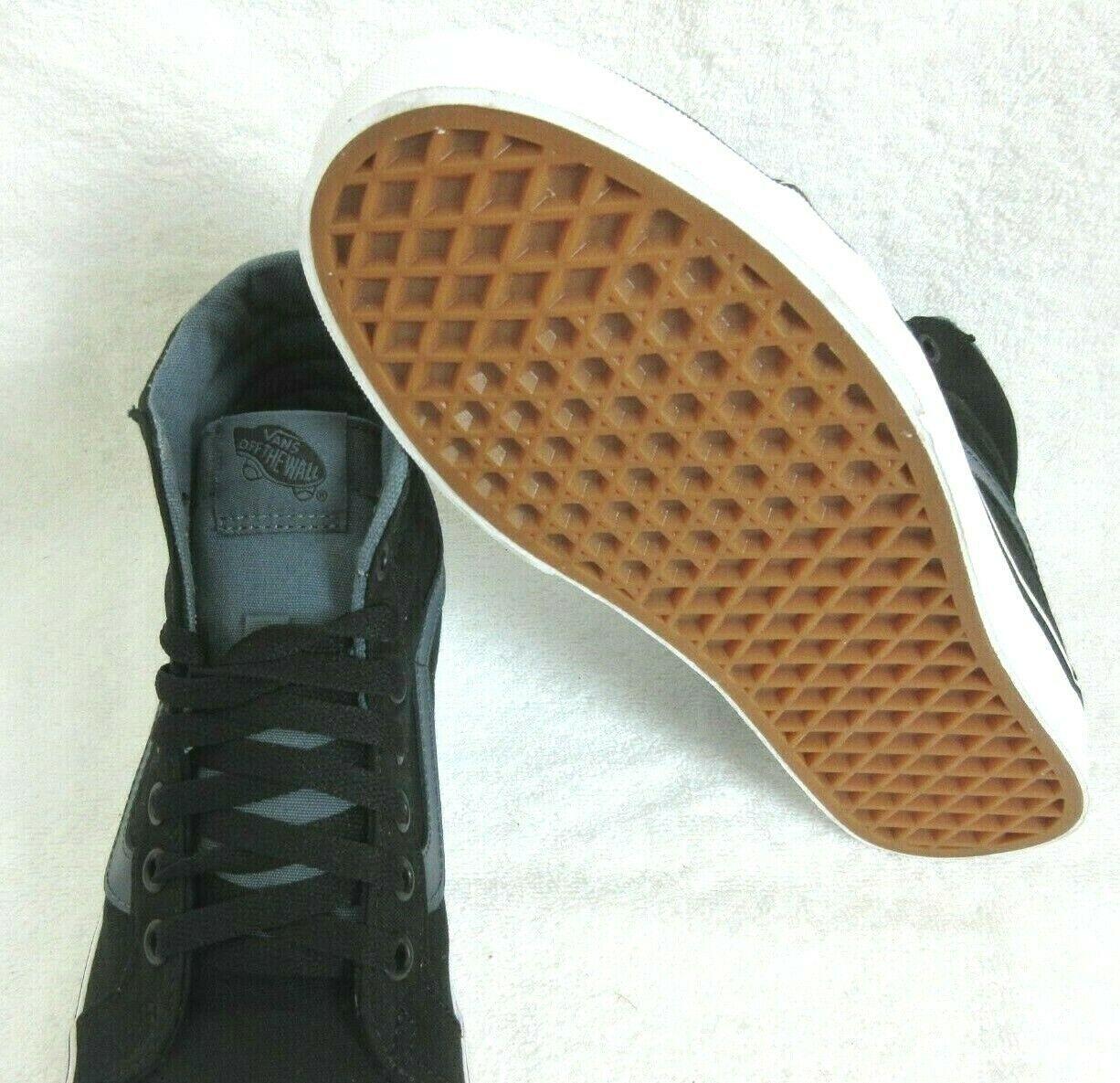 Vans Womens Sk8-Hi Reissue Canvas Black Dark Slate Grey Skate Shoes Size 8 NWT